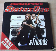 STATUS QUO & FRIENDS - 40th ANNIVERSARY DOUBLE ALBUM PROMO CDS FREE UK POST!!