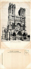 1910's THE CATHEDRAL RHEIMS FRANCE UNUSED POSTCARD