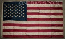 3'x5' USA Embroidered Nylon Sewn Flag Vintage Look Aged Old Glory Outdoor 3X5