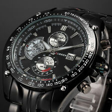 CURREN Men Fashion Military Stainless Steel Date Sport Quartz Analog Wrist Watch