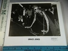 Rare Original VTG Grace Jones in Headress and Sunglasses Photo