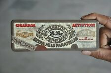 Vintage Cigaros Autenticos Pantella Tobacco Cigars Ad Litho Tin Box , Holland