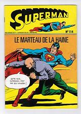 FRENCH COMIC FRANÇAIS EDITION INTERPRESSE  SUPERMAN  114  BELGIQUE