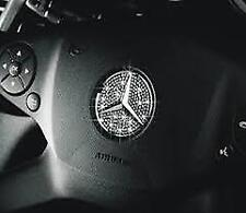 Mercedes Benz crystal steering wheel emblem