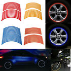 16pcs 10/12/17/19''Motor Car Bike Wheel Sticker Reflective Rim Stripe Tape Decal