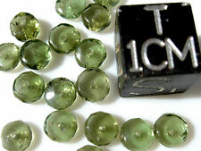 1 MOLDAVITE checkered cut bead size about 5mm x 2mm each - total of 1 BEAD