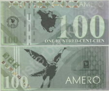 """100 AMERO NO. AMERICAN UNION MOVIE PROP STAGE MONEY NOTE FROM THE FILM """"ELYSIUM"""""""