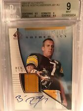 Ben Roethlisberger 2004 SP Authentic Rookie Patch Auto RC JSY BGS 9/10 Steelers
