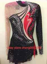 Ice skating dress.Red / black Competition Figure Skating /Baton Twirling custome