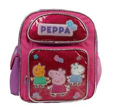 "2016 New Peppa Pig 12"" Medium size Backpack Book Bag for girls and kids USA SHIP"