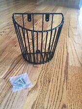 Hanging Wire Wall Basket, Brand New In Box, Black