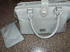 Baggallini Purse Handbag Tote and change purse EUC, Gray, Fast Shipping