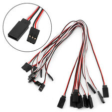 10pcs 300mm Servo Extension Lead Wire Cable Cord For Futaba JR Male To Female