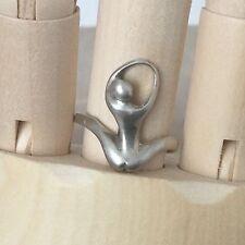Bague Vintage en Argent Massif Moderniste Femme Nue TDD 56 Silver Ring