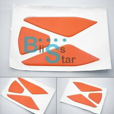 3 Pcs Orange Tank Pad Protector Sticker Fit KTM 125 200 390 DUKE EV