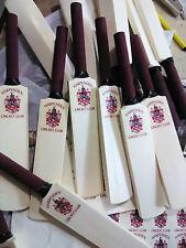 """50 x mano intagliato 12 """"Mini Cricket BAT, C / W IL TUO CLUB / scuola / società CREST!"""