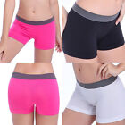 Women Black Fitness Yoga Boxer Shorts Seamless Sports Briefs Underwear Lingerie