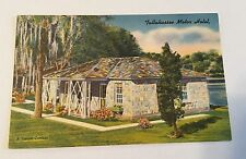Vintage Color Unused Linen Postcard - Tallahassee Motor Hotel - Florida