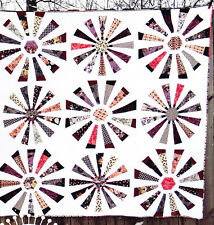 Fifteen Degrees - modern dresden plate pieced quilt PATTERN