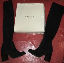 CARVELA KURT GEIGER REAL SUEDE GENUINE LEATHER OVER THE KNEE THIGH HIGH BOOTS
