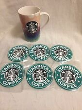 6 Starbucks Drink Coasters Green  dining kitchen coffee drink car coasters