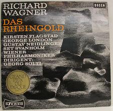"""WAGNER DAS RHEINGOLD FLAGSTAD LONDON NEIDLINGER SVANHOLM GEORG SOLTI 12"""" LP d990"""