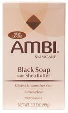 Ambi Black Soap with Shea Butter 3.50 oz (Pack of 2)