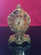 DANBURY MINT  CLOCK GOLD PLATED CHRISTMAS ORNAMENT 1999