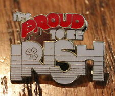 Proud To Be Irish Lapel Hat Pin Animal Tie Tack St. Patrick's Day Ireland Luck