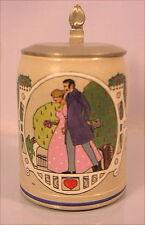 Alter Bierkrug Jugendstil um 1900 Beer Stein