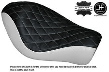 BLACK & WHITE DIAMOND CUSTOM FOR HARLEY SPORTSTER LOW IRON 883 SOLO SEAT COVER
