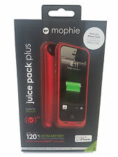 Mophie iPhone SE 5S 5 Juice Pack Plus Charging Cover Case - Red