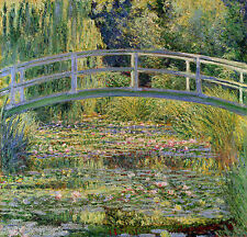 The Japanese Bridge by Claude Monet Giclee Fine Art Print Repro on Canvas