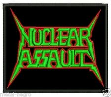 NUCLEAR ASSAULT EMBROIDERED PATCH THRASH WHIPLASH ATROPHY HAVOK SOD Metal Negro