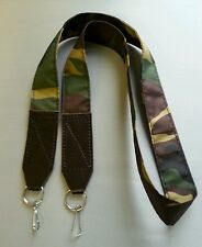 DSLR SLR Nylon Camouflage Camera Shoulder Neck Strap with leather / metal hooks
