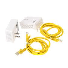 2X 200Mbps Homeplug Ethernet Network Extender AV Powerline Adapter Kit