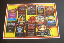 Monsters Of Rock concert poster Donington Park UK 1980 TO 1992 collage A3 size