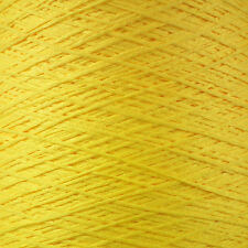 4 PLY ITALIAN TAPE YARN 500g CONE 10 BALLS CANARY YELLOW CHAINETTE RIBBON BRIGHT