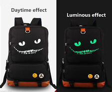 New Alice in Wonderland Moive Cheshire Cat Canvas Bag Luminous Backpack hy