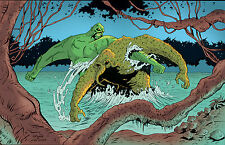 ANTHONY CACIOPPO~SWAMPTHING VS MANTHING SIGNED PRINT~WOW!