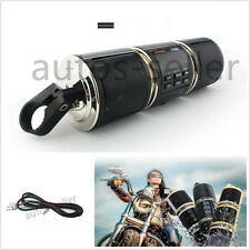 Black Bluetooth Motorcycle Handlebar Audio Amplifier Radio Stereo Speaker MP3&FM