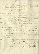 Manoscritto per Iscrizione Ipoteca su Beni della Famiglia Carandina Trecena 1853