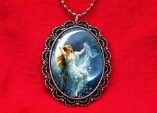 MOON GODDESS FAIRY PIN UP STARS VINTAGE PENDANT NECKLACE