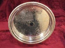 Vtg WM Rogers Silverplate Reticulated Gallery Tray Equestrian/ Horse Show Trophy