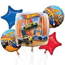 NEW Hot Wheels 5pc Foil Balloon Bouquet Birthday Decorations Party Supplies