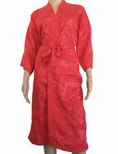 Womens Bathrobe Thai Silk Kimono Robe Dressing Gown Floral Sleepwear Nightwear