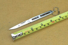 Knife Saber Folding Pocket Outdoor Fishing Camping Rescue with key chain Gift