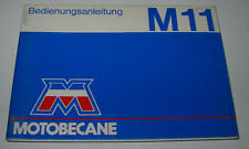 Betriebsanleitung Motobecane M 11 Mofa ohne Einträge blanko Stand März 1983