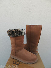 UGG CHESTNUT CLASSIC TALL ANIMAL SUEDE/ SHEEPSKIN BOOTS,  US 8/ EUR 39 ~ NIB