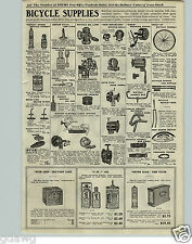 1920 PAPER AD Bicycle Oil Lamps Acetylene Hand Horn Siren Saddles 3 in 1 Oil
